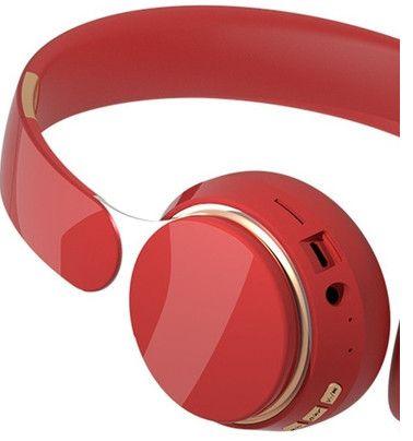 Fone ouvido Bluetooth vermelho