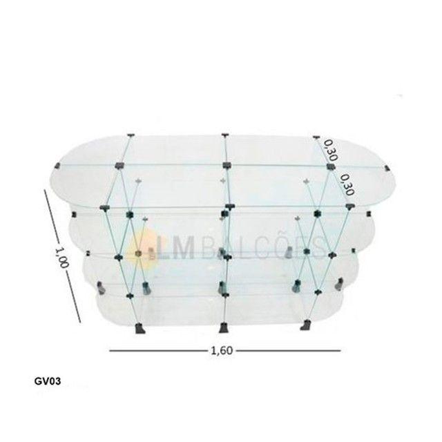 Gondola De Vidro Oval* ? 1,60 X 1,00 X 0,30