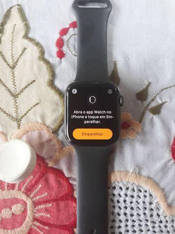 Apple Watch S4 Serie 4 (gps+celular) Cinza Espac/preto 44mm - Foto 3