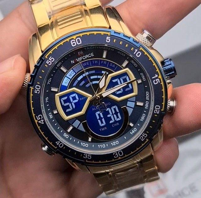 10x Sem Juros Relógio Esportivo Naviforce Analógico Digital Dual Time - Foto 2