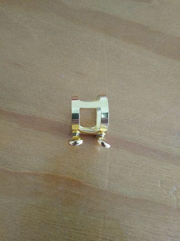 Sax Alto - Clarinete - Abraçadeira Dourada - Foto 6