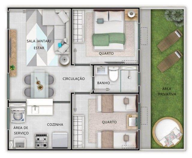 Vendo Apartamento no Condomínio Chapada Boulevard na Av. Beira Rio - Foto 7