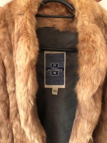 Casaco de pele de coelho (legítimo) - Foto 2