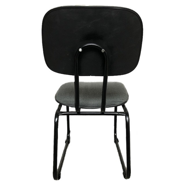 Cadeira para escritório em tecido cinza usada - Foto 2