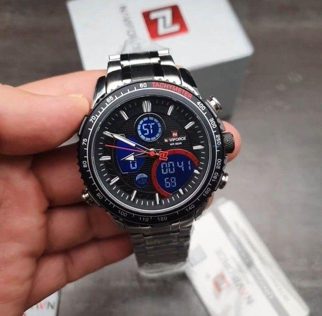 10x Sem Juros Relógio Esportivo Naviforce Analógico Digital Dual Time - Foto 3