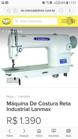Vendo essa máquina reta industrial