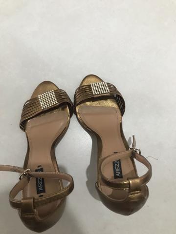 5393fbcef1 Sandália dourado bronze Arezzo - Roupas e calçados - Res Dona ...