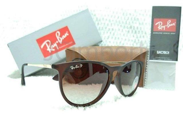 a791fd1615 Óculos de Sol Ray Ban Erika Marrom Polarizado RB4171 Novo ...