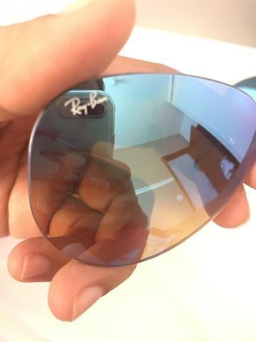 Lente rayban azul espelhada degradê ORIGINAL - Foto 5