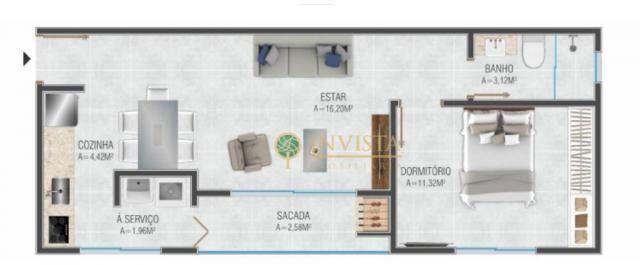 Apartamento com 1 dormitório - em construção - Foto 4