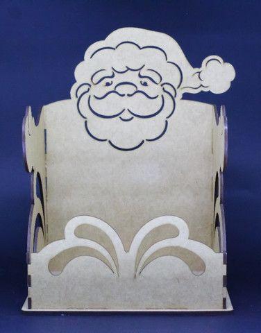 Porta Panetone Papai Noel MDF - Foto 2
