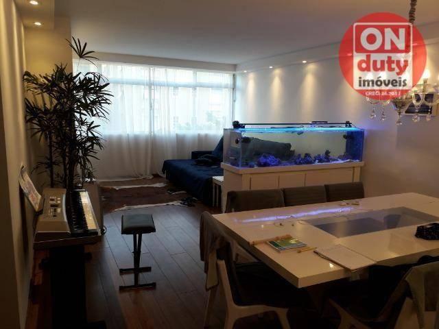 Apartamento com 3 dormitórios à venda, 120 m² por R$ 630.000 - Aparecida - Santos/SP - Foto 2