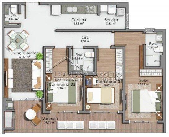 Apartamento à venda com 3 dormitórios em Santo antônio de lisboa, Florianópolis cod:3046 - Foto 2