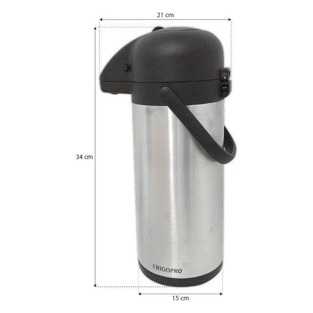 Garrafa Térmica Aço Inox 2,2 Litros Inquebrável Quente e Fria - Foto 2