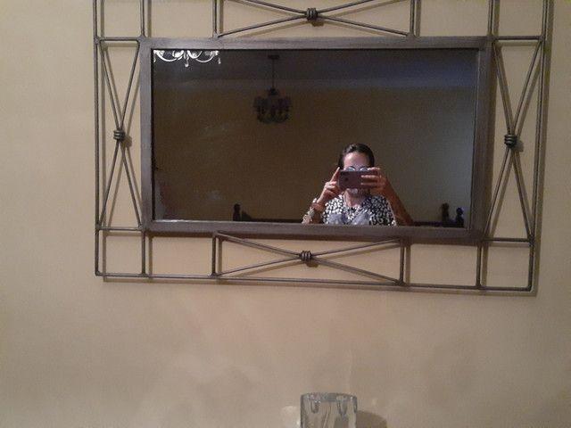 Aparador meia lua e espelho
