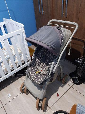 Berço americano +  carrinho de bebê da galzerane - Foto 4