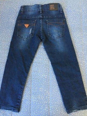 Calça jeans Gangster e brim Milon tamanho 4 - Foto 2