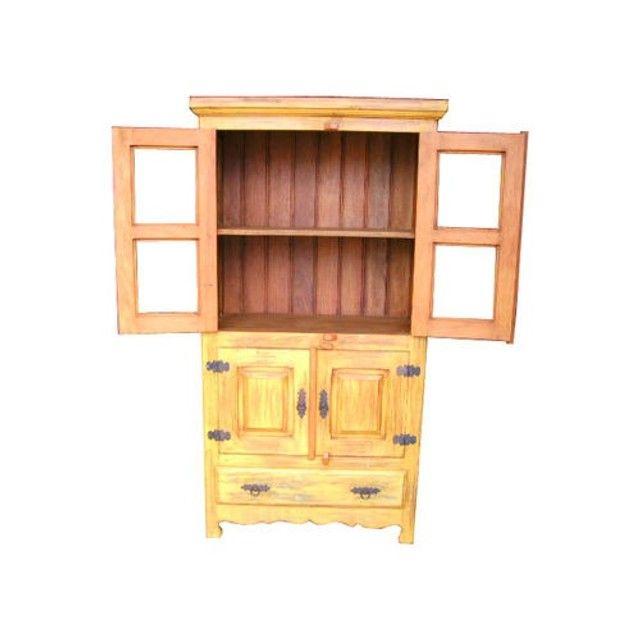 Armário Cristaleira Rústica Liberia Madeira de Demolição Peroba Rosa 4 Portas e 1 Gaveta - Foto 4