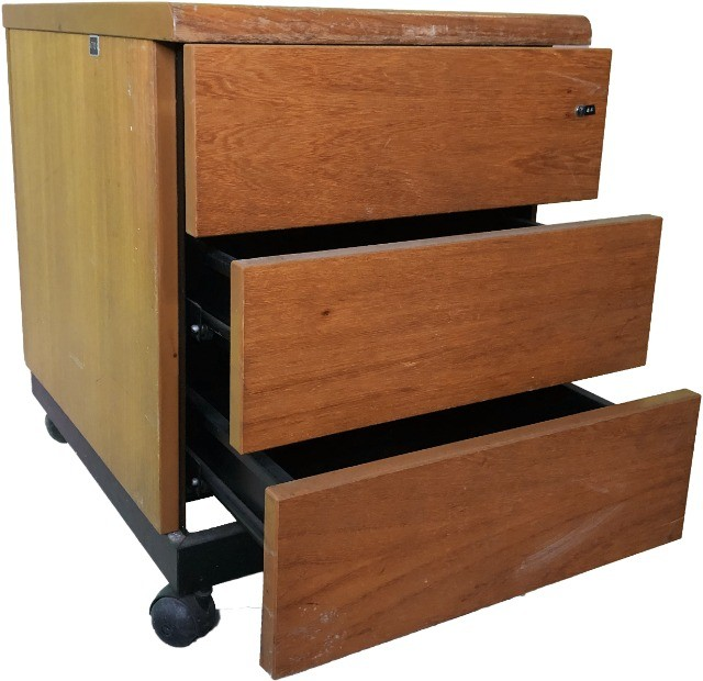 Gaveteiro para escritório ou quarto com 3 gavetas e rodízio - Foto 3