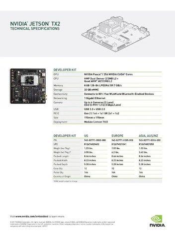 Nvidia Jetson TX2 Developer Kit - Placa de desenvolvimento Nova - Foto 6