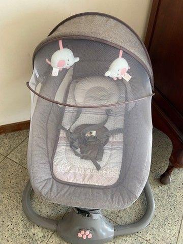 Cadeirinha de Balanço automática - cadeira de bebê vibra música bluetooth - Foto 6