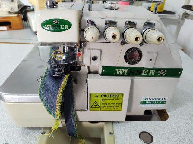 Overlock ponto cadeia máquina de costura
