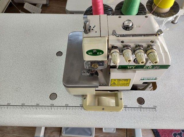 Overlock ponto cadeia máquina de costura - Foto 4