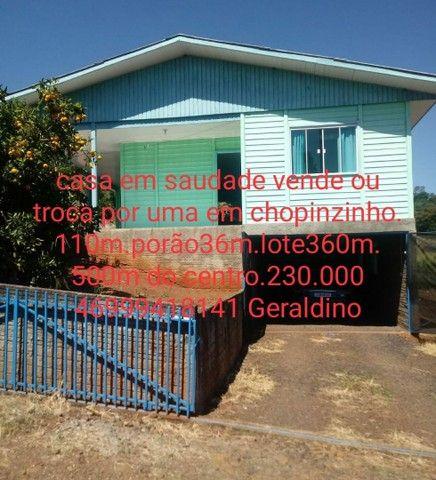 Vende-se Casa em Saudade do Iguaçu-Pr ou Faz Troca por Outra em Chopinzinho Pr