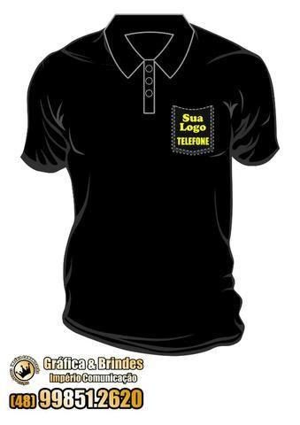 b1a45af68 Uniforme Camisa Gola Polo Impresso em Serigrafia Personalizada Eventos e  Festas