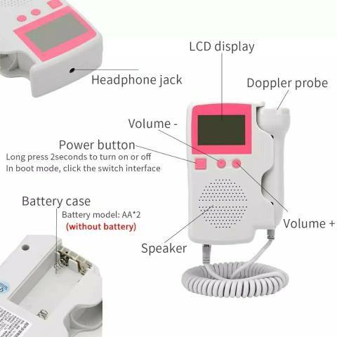 Monitor de frequência cardíaca fetal - Foto 4