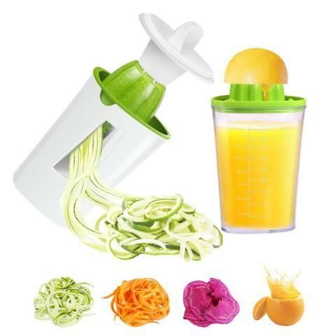 Espremedor de Laranja/Limão e Fatiador Legumes Espiral