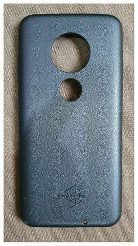 Case Para Motorola G7 Plus Em Couro  - Foto 3