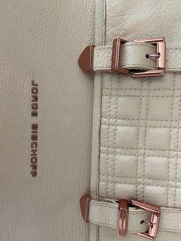 Bolsa feminina JORGE BISCHOFF rosa, original e em excelente estado  - Foto 4