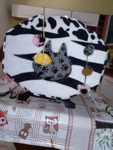 Casinhas pet pelúcia/tecido gato/cachorro - Foto 4