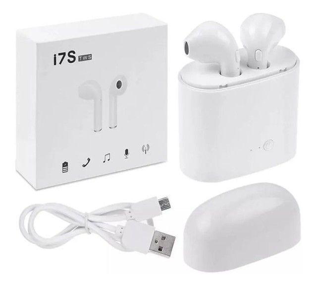 Fone sem fio Bluetooth i7s