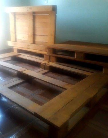 Cama de Pallets Deck de Madeira - Foto 5