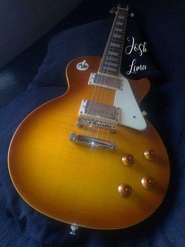 Guitarra Epiphone Les Paul Standard PRO Honeyburst - Foto 6
