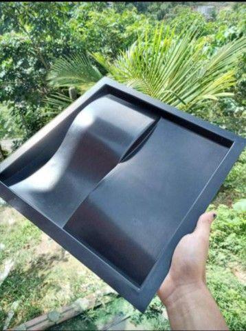 Forma  Molde Gesso 3D Tijolo 30x30 - Foto 2