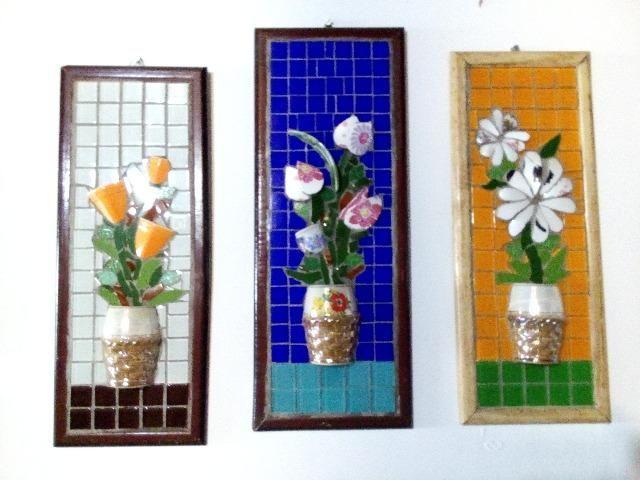 Quadro, flores, passaro, são Paulo, mosaico - Foto 6