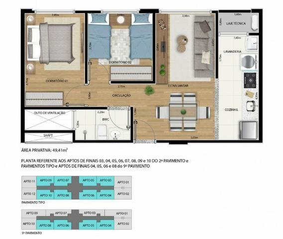 Apartamento 2 qts 50m2 * com desconto na entrada - Foto 4