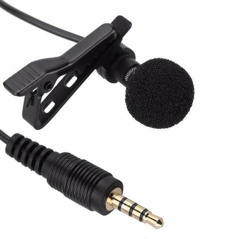 Microfone Celular Smartphone Youtuber Lapela Iphone Android conexão P3 - Foto 4