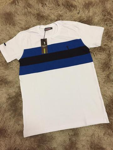 Camisetas Listradas Algodão Report com Elastano - Foto 4