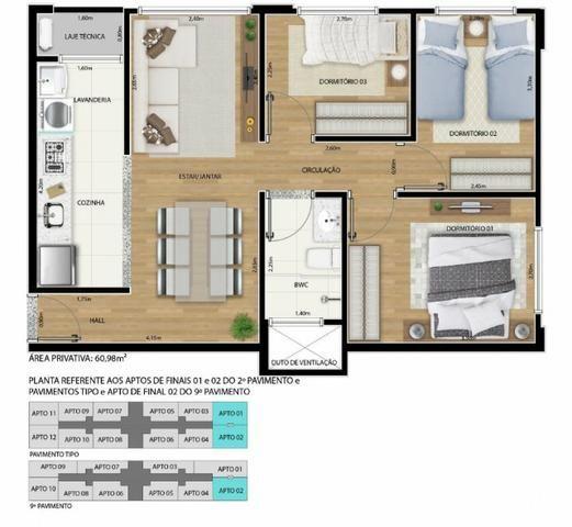 Apartamento 2 qts 50m2 * com desconto na entrada - Foto 8