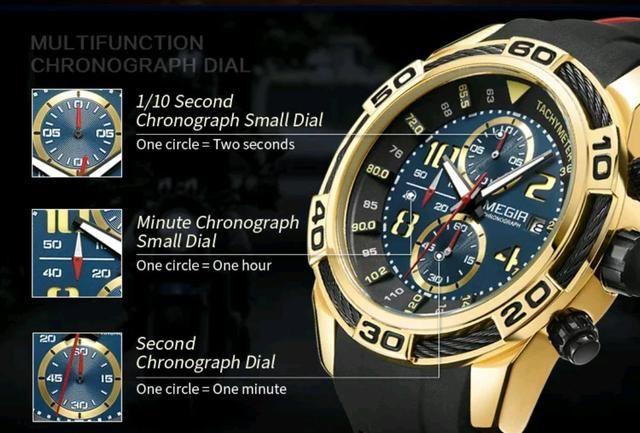 Relógio Original Multifuncional MEGIR - Foto 4