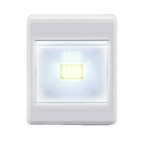 Kit 4 Luminarias LED Botão A Pilha 3W Branca - Elgin - Foto 4