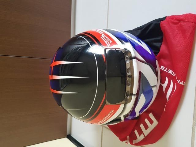 Capacete MT Helmets Revenger 58 + Viseira Camaleão - Foto 4