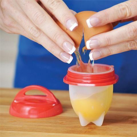 Kit de 6 Formas de Silicone Para Cozinhar Ovos - Foto 4