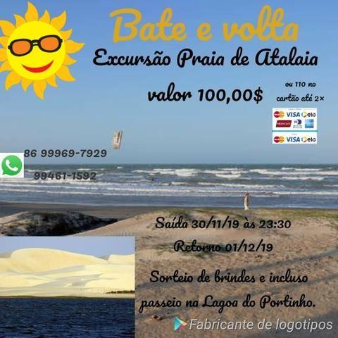 Excursão para praia de Atalaia