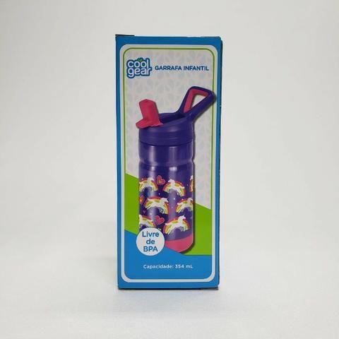 Garrafa Infantil Unicórnio 435 ml Cool Gear importado EUA - Foto 5