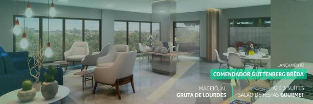 Apartamento à venda com 3 dormitórios em Gruta de lourdes, Maceió cod:74648 - Foto 2